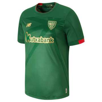 New Balance Athletic Club Away SS Jersey, Green with Gold & Red