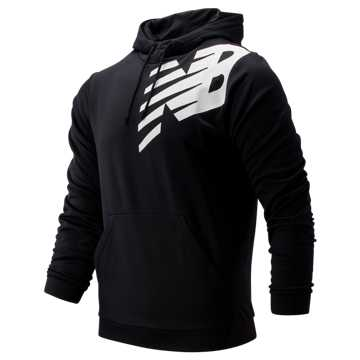 New Balance Tenacity Fleece Pullover Hoodie, Black