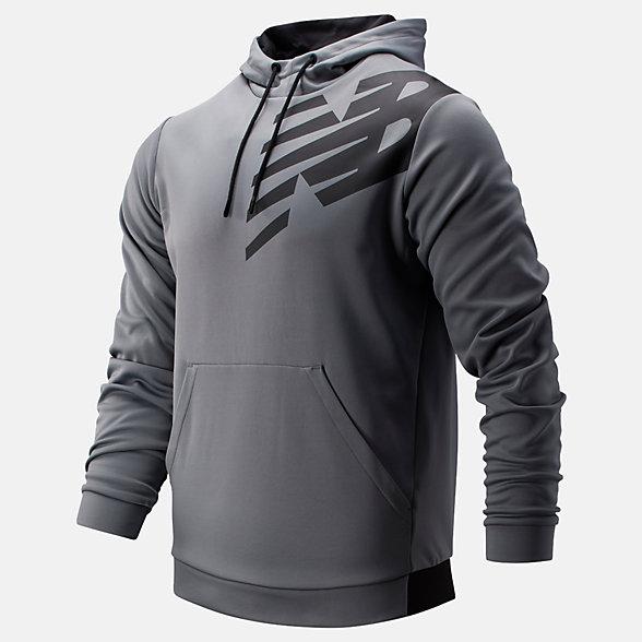 New Balance Tenacity Fleece Pullover Hoodie, MT93021GNM