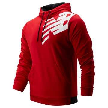 New Balance Tenacity Fleece Pullover Hoodie, Team Red