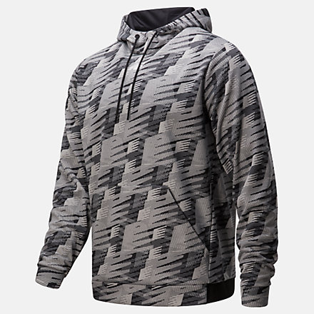 New Balance Graphic Tenacity Fleece Pullover Hoodie, MT93023ATK image number null