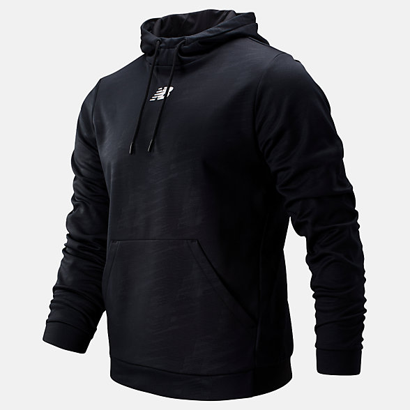 New Balance Graphic Tenacity Fleece Pullover Hoodie, MT93023BK