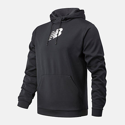 New Balance Graphic Tenacity Fleece Pullover Hoodie, MT93023BKW image number null