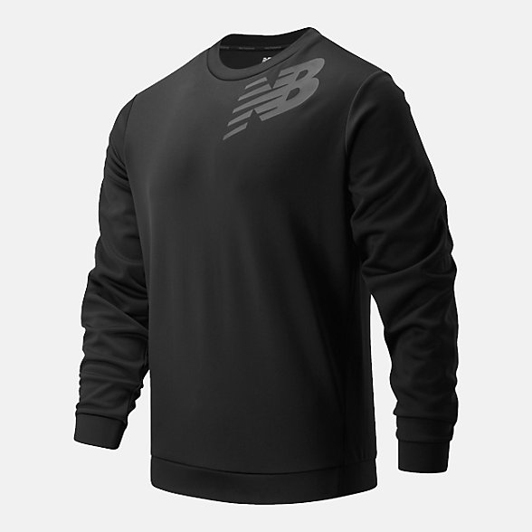 New Balance Graphic Tenacity Fleece Crew, MT93024BK