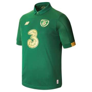 New Balance FA Ireland Home SS Jersey, Green with Gold