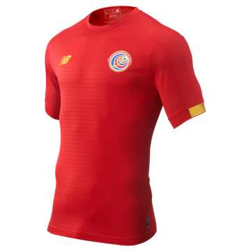New Balance Costa Rica Home SS Jersey, Red with Yellow