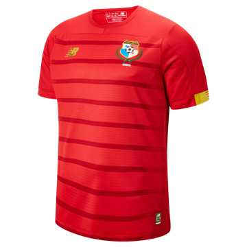 New Balance Panama Home SS Jersey, Red Pepper with Yellow