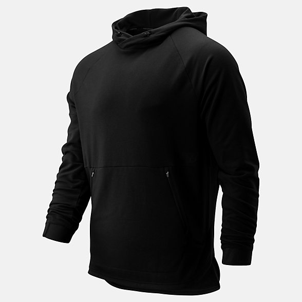 New Balance R.W.T. Long Sleeve Pullover Hoodie, MT93047BK