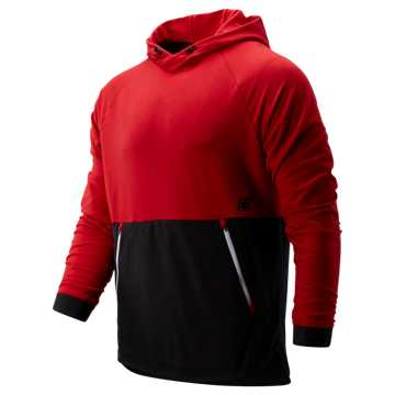New Balance R.W.T. Long Sleeve Pullover Hoodie, Team Red with Black
