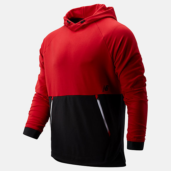New Balance R.W.T. Long Sleeve Pullover Hoodie, MT93047REP