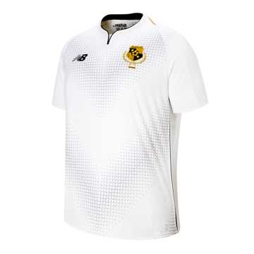New Balance Panama Gold Cup SS Jersey, White with Black & Yellow