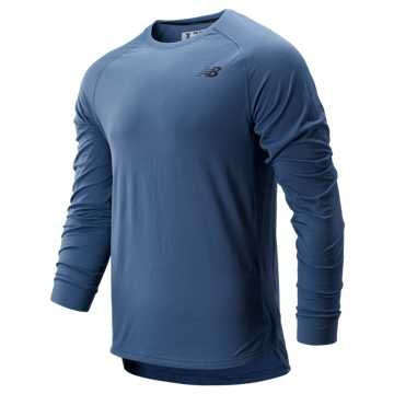 New Balance R.W.T. Long Sleeve Top, Chambray