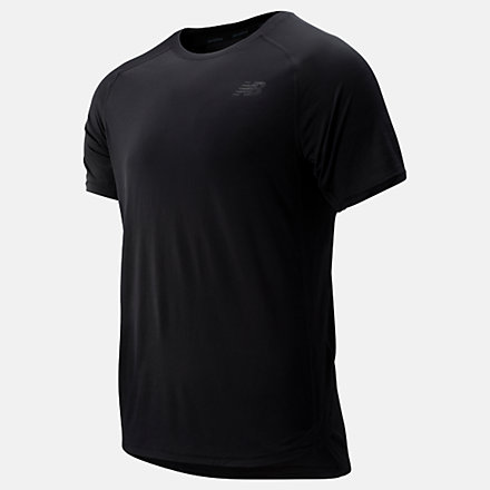 New Balance R.W.T. Short Sleeve Top, MT93051BK image number null