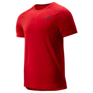 New Balance R.W.T. Short Sleeve Top, Team Red