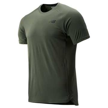 New Balance R.W.T. Short Sleeve Top, Slate Green