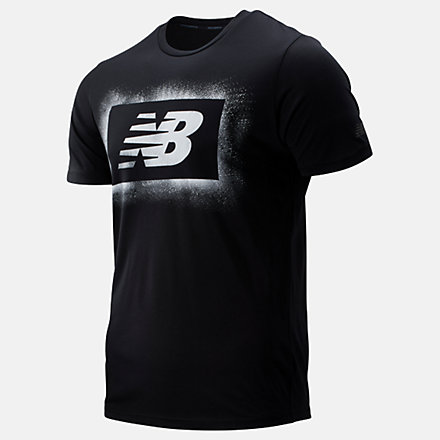 New Balance Graphic Heathertech Tee, MT93083BM image number null