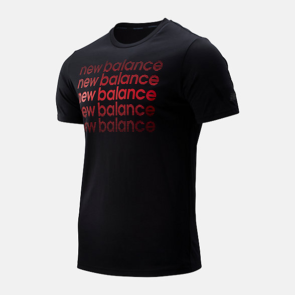 New Balance Graphic Heathertech Tee, MT93083BRD