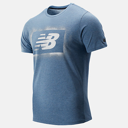 New Balance Graphic Heathertech Tee, MT93083CMY image number null