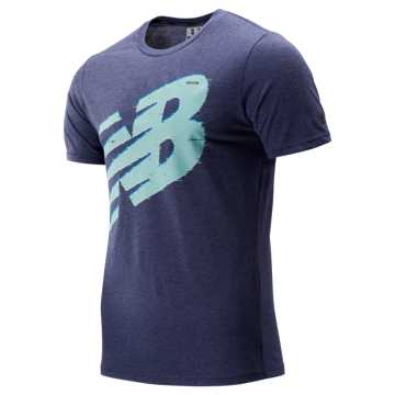 New Balance Graphic Heathertech Tee, Pigment
