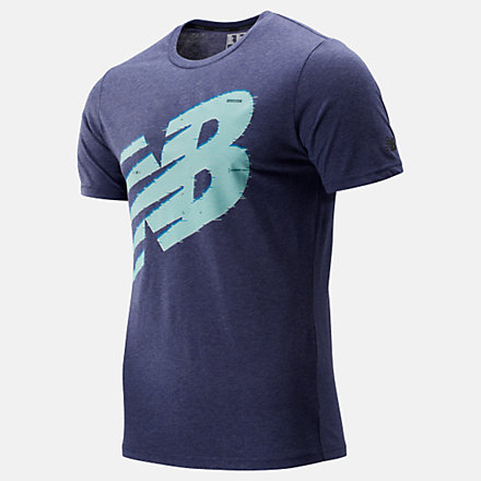 New Balance Graphic Heathertech Tee, MT93083PGM image number null