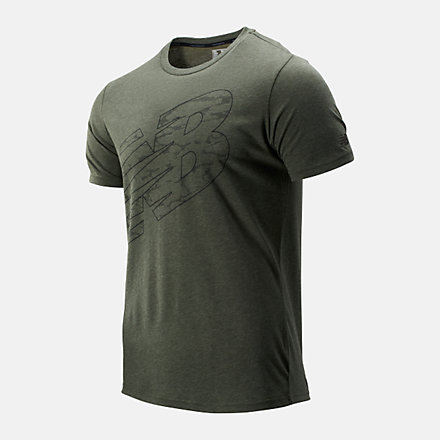 New Balance Graphic Heathertech Tee, MT93083SLT image number null