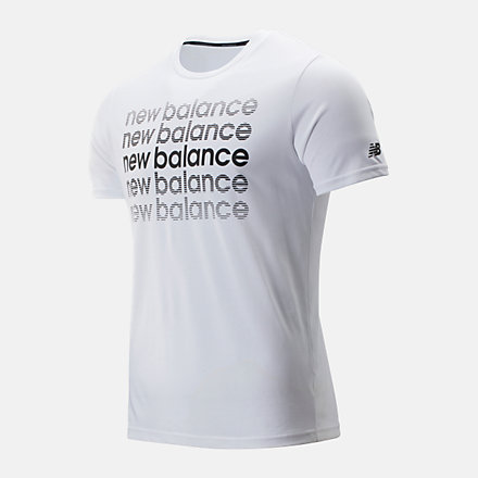 New Balance Graphic Heathertech Tee, MT93083WBT image number null