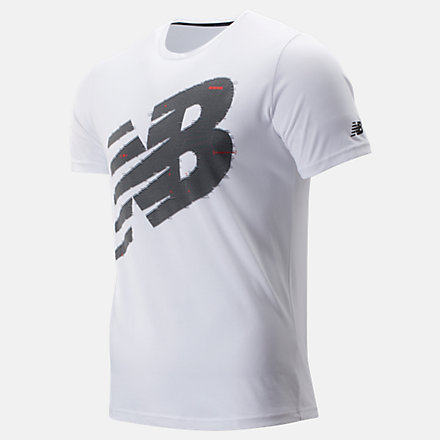 New Balance Graphic Heathertech Tee, MT93083WT image number null