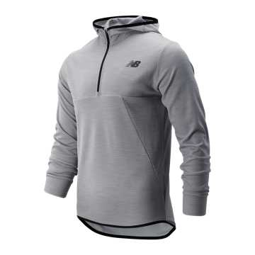 New Balance Tenacity Hooded QTR Zip, Athletic Grey