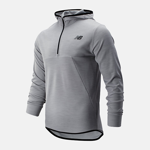 NB Tenacity Hooded QTR Zip, MT93089AG