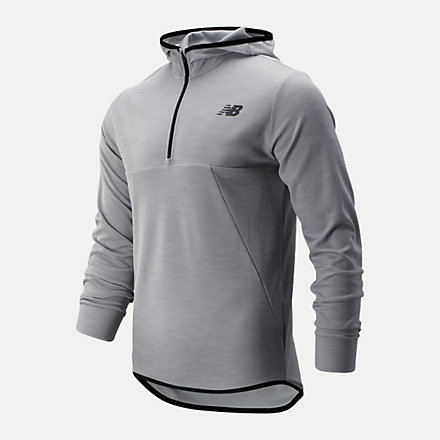 New Balance Tenacity Hooded QTR Zip, MT93089AG image number null