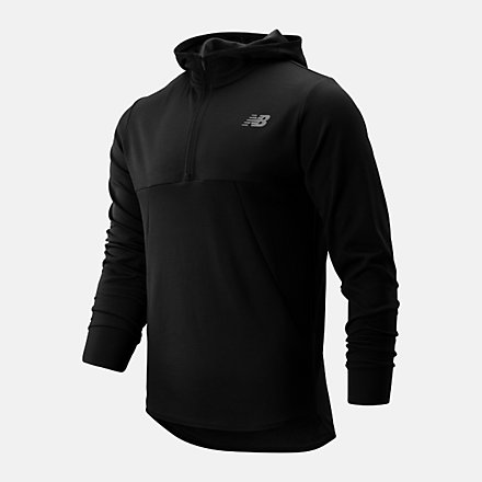 New Balance Tenacity Hooded QTR Zip, MT93089BK image number null