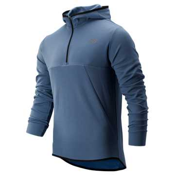 New Balance Tenacity Hooded QTR Zip, Chambray