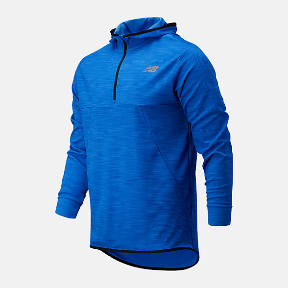 New Balance Tenacity Hooded QTR Zip, MT93089CO