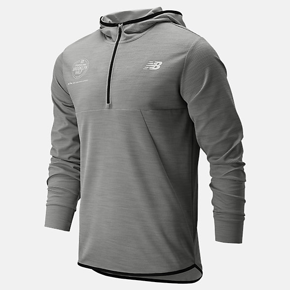 New Balance Popular Brooklyn Half Tenacity Hooded Qtr Zip, MT93089FAG