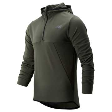 New Balance Tenacity Hooded QTR Zip, Slate Green