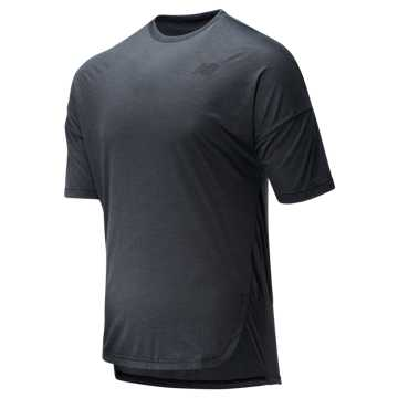 New Balance Reclaim Hybrid Short Sleeve, Black Heather
