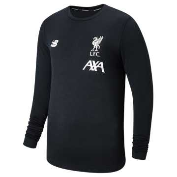 New Balance Liverpool FC Managers LS Seamless Jersey, Black