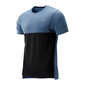 New Balance Accelerate Short Sleeve, Chambray with Black