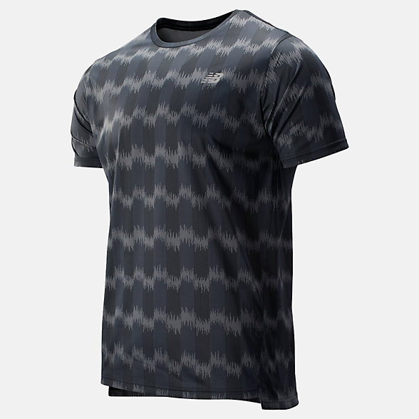 NB Printed Accelerate Short Sleeve, MT93181BM