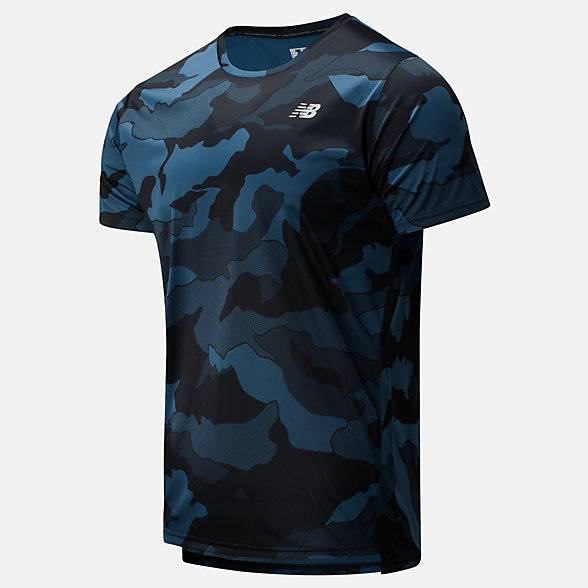 NB Printed Accelerate Short Sleeve, MT93181BSL