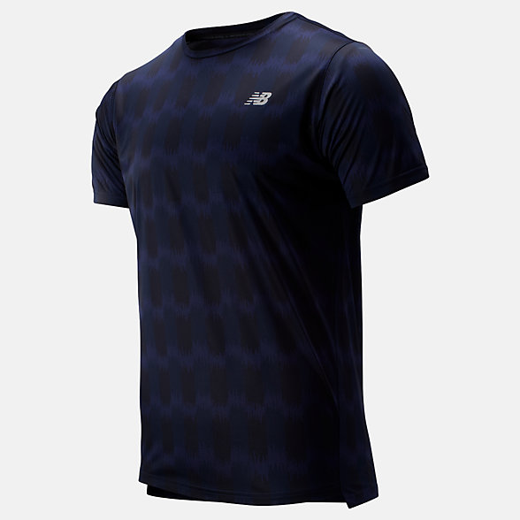 NB Printed Accelerate Short Sleeve, MT93181PGP