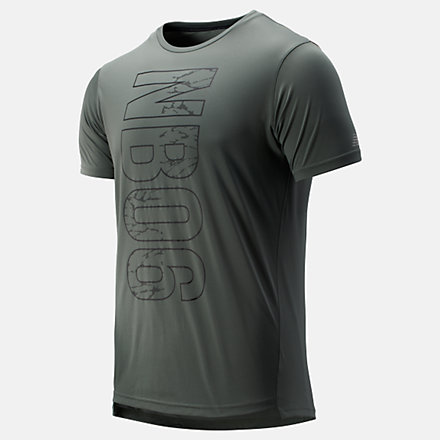 New Balance Printed Accelerate Short Sleeve, MT93181SLG image number null
