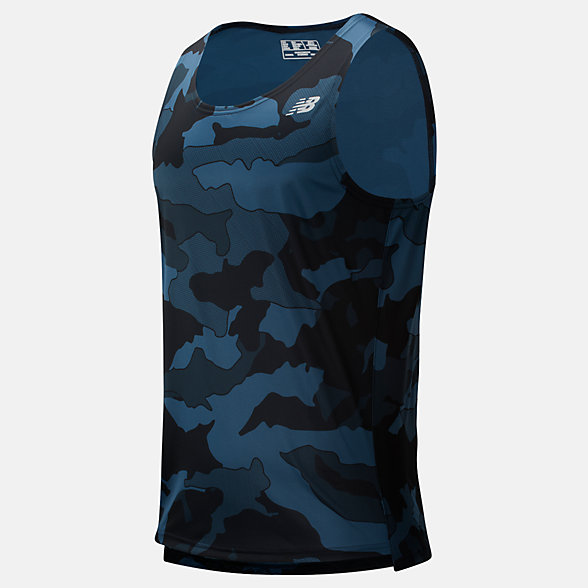 New Balance Printed Accelerate Singlet, MT93184BSL