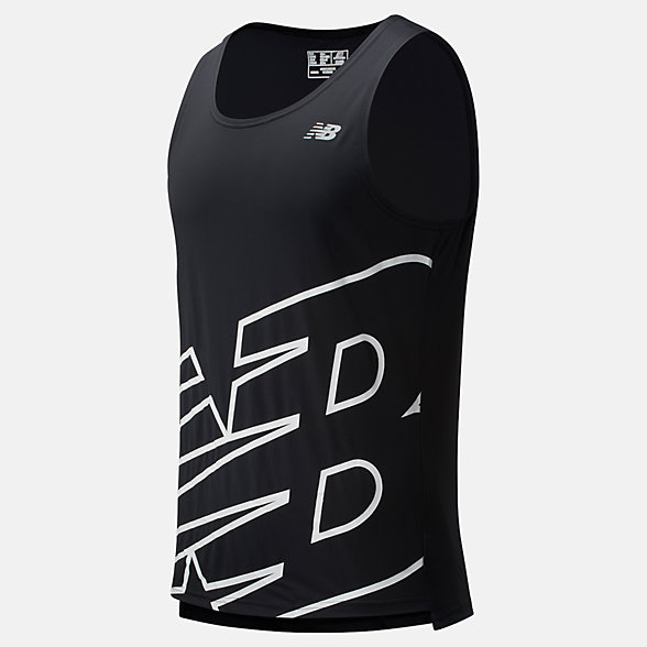 New Balance Printed Accelerate Singlet, MT93184BWP