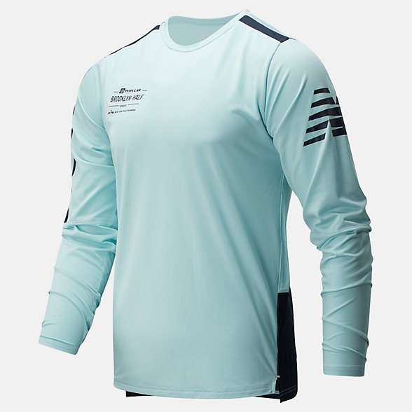 New Balance Popular Brooklyn Half Fast Flight Long Sleeve, MT93194FDRZ