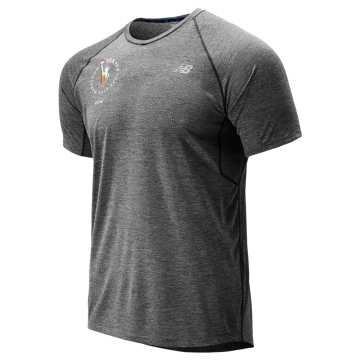 New Balance NYC Marathon Impact Run Mesh Short Sleeve, Black Heather