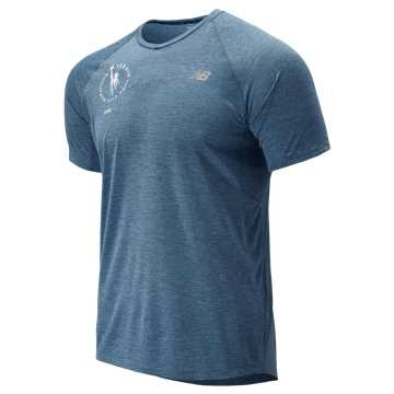 New Balance NYC Marathon Impact Run Mesh Short Sleeve, Chambray
