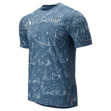 New Balance NYC Marathon P NB Ice 2.0 Short Sleeve, Chambray