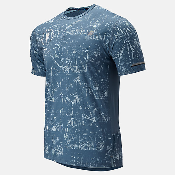 New Balance NYC Marathon P NB Ice 2.0 Short Sleeve, MT93201MCMY