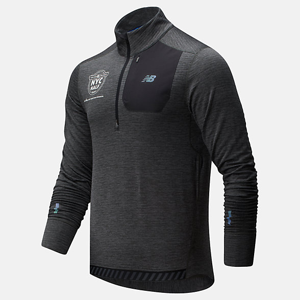 New Balance 2020 United Airlines Half NB Heat Grid Half Zip, MT93220CHC